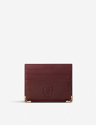 Cartier Must de leather card holder