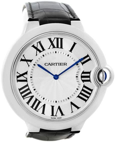 Cartier Ballon Bleu W6920055 18K White Gold & Silver Dial 46mm Mens Watch