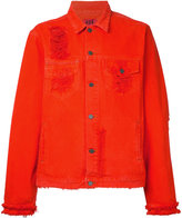 424 Fairfax - distressed denim jacket - men - Cotton - XL