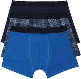 M&Co Plain and check print trunks three pack