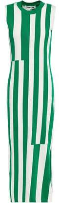 McQ Striped Cotton Midi Dress
