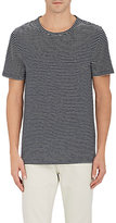 Barneys New York MEN'S STRIPED LINEN-BLEND T-SHIRT