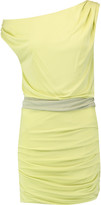 Halston Off-the-shoulder stretch-jersey mini dress