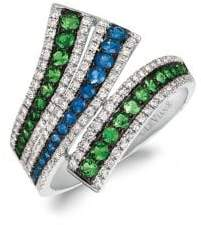 LeVian Le Vian 14K Vanilla Gold? Green Garnet, Blueberry SapphireTM & Vanilla Diamonds? Bypass Ring