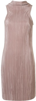 ANNA QUAN Monet mock neck plisse dress