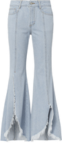 Sjyp Front Split Flare Leg Jeans