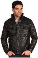 Report Collection Quilted Jacket w/ Contrast Panels (Black) - Apparel
