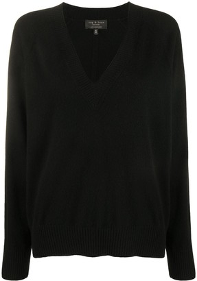 Rag & Bone V-Neck Cashmere Jumper