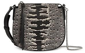 AllSaints Ely Mini Embossed Leather Crossbody Bag