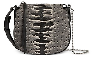 AllSaints Ely Mini Embossed Leather Crossbody Bag