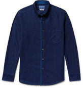 Blue Blue Japan Slim-Fit Button-Down Collar Indigo-Dyed Cotton-Twill Shirt