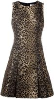 MICHAEL Michael Kors leopard print flared dress - women - Cotton/Polyester/Spandex/Elastane - 2