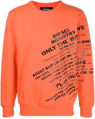 Diesel slogan sweatshirt