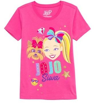 Nickelodeon Jojo Siwa JoJo Siwa and Bow Bow Gold Glitter Graphic T-Shirt (Little Girls & Big Girls)