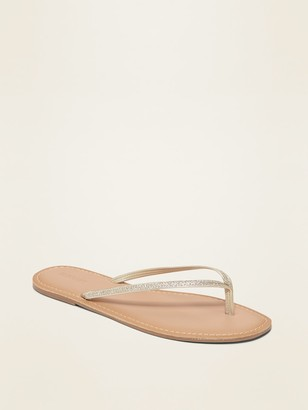 Old Navy Glitter Faux-Leather Capri Sandals for Women