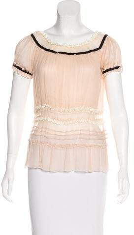 Marc by Marc Jacobs Silk Ruffle-Trimmed Blouse