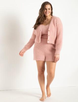 ELOQUII Fuzzy Sweater Shorts