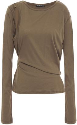 Ann Demeulemeester Cutout Cotton-jersey Top