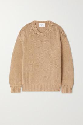 Bassike Cotton And Merino Wool-blend Sweater - Tan