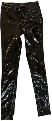Anthony Vaccarello Black Polyester Trousers