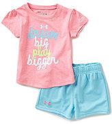 Under Armour Baby Girls 12-24 Months Dream Big Play Bigger Tee & Shorts Set