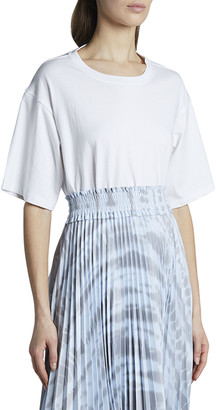 Proenza Schouler White Label Open-Back Short-Sleeve Tee