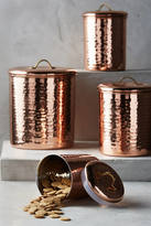 Anthropologie Copper-Plated Canister Set