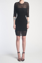 Donna Mizani Orbit Mini Dress In Black