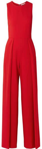 Alice + Olivia Alice Olivia - Bret Crepe Jumpsuit - Red