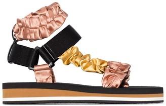 Midnight 00 scrunchie strap sandals