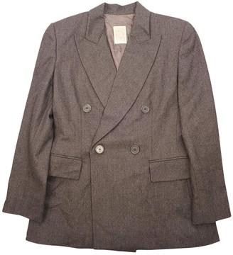 Gianfranco Ferre Grey Wool Jacket for Women