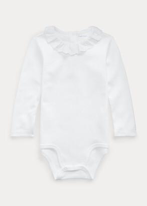 Ralph Lauren Eyelet-Trim Interlock Bodysuit