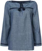 A.P.C. tassel neck blouse