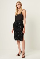 French Connenction Desiree Sequin Midi Skirt
