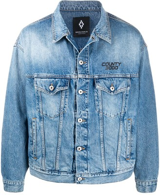 Marcelo Burlon County of Milan Atmosphera print denim jacket
