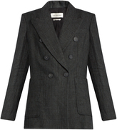 Etoile Isabel Marant Janey Prince of Wales-checked linen blazer