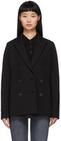 Rag & Bone Black Double-Breasted Nyx Blazer