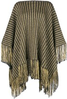 Saint Laurent knitted poncho dress