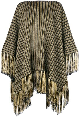 Saint Laurent Knitted Poncho Dress