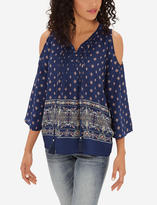 The Limited Printed Cold Shoulder Blouse