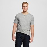 Merona Men's Big & Tall Short Sleeve Henley Shirt Gray