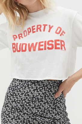 Junk Food Clothing Property Of Budweiser Cropped Tee