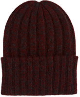 The Elder Statesman Women's Short Bunny Echo Hat-BURGUNDY