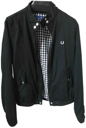 Fred Perry Black Cotton Leather Jacket for Women