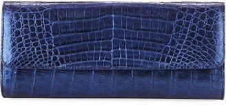 Judith Leiber Kate Caiman Crocodile Clutch Bag