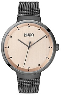 HUGO #Go Mesh Bracelet Watch, 38mm