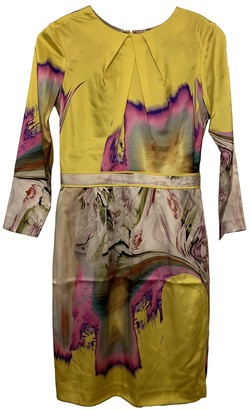 Vera Wang Multicolour Silk Dress for Women