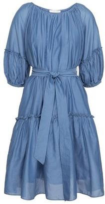 Cathrine Hammel - Sheer Midi Short Sleeve Dress Denim Blue - XS - UK8 / Denim Blue