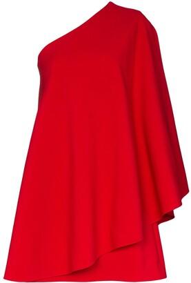 Valentino one-shoulder flared mini dress