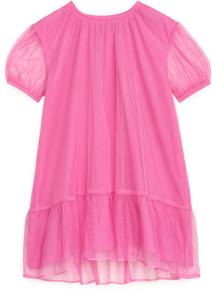 Arket Ruffled Tulle Dress